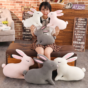40/55cm Large Size Soft Hugging Rabbit Plush Toy Stuffed Animal Bunny Rabbit Pillow Plush Soft Placating Toys For Children