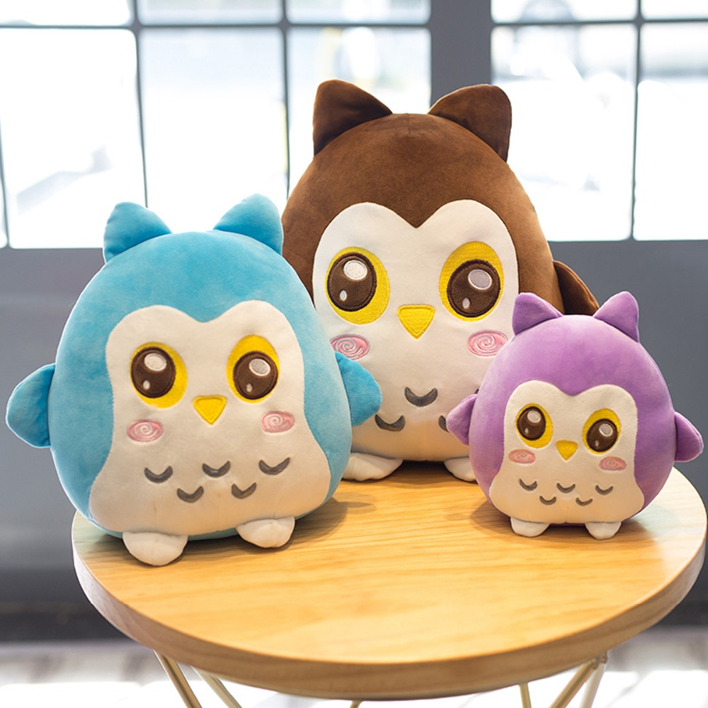 Plush Soft Owl Toy Pillow Stuffed Animal Plump Owl Toy for Children's Day Gift Or Bedroom Decoration Bed Toy 22/30/40 cm