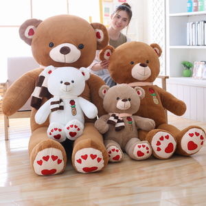 80/100 cm Big Size Soft Teddy Bear Plush Toys Stuffed Plush Animals Soft Bear Cushion Toy For Kids Dolls Children Gifts