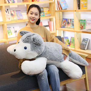 100/120 cm Large Size Soft Husky Plush Toy Stuffed Husky Toys For Children