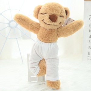 60 cm Decent Joint Movable Yoga Bear Plush Toy Stuffed Animal Teddy bear Bed Toy For Children's Gift Yoga Fans