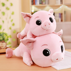 30/40/50/60 cm Soft Pink Pig Plush Toy Soft Stuffed Cute Animal Pig Lovely Dolls for Kids Appease Toy Baby's Room Decoration
