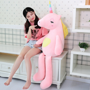 110/140 cm Soft Rainbow Unicorn Plush Toy Adorable Plush Unicorn Stuffed Animal Unicorn Plush Toys For Children