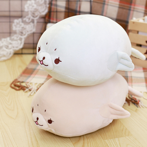 80 cm Soft Seal Plush Toy Soft Stuffed Pillow Cute Cartoon Animal Seal Toy Cushion Doll for Kids Children's Gift
