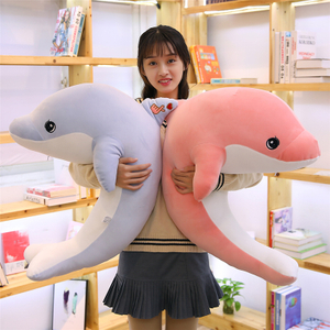 60/90 cm Soft Stuffed dolphin Plush Toy Soft Pillow Cute Cartoon Ocean Animal Dolphin Cushion Doll for Kids Children's Gift