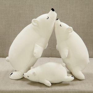 30/40/50/70 cm Simulation Polar Bear Plush Pillow Stuffed Animal Polar Bear Cushion Toys For Children's Room Sleeping Mate