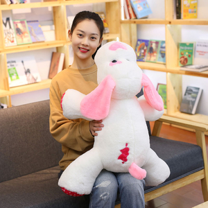 100 cm Soft Cupid Dog Plush Toy Plump Body Adorable Love Heart Dog Cushion Stuffed Doll Pillow For Kids Or Lover's Gift