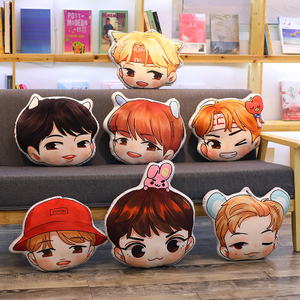 Bangtan Boys BTS bt21 EXO Adorable Pillow Plush Toy Stuffed Soft Cushion Bulletproof Boy Scouts Toys for Supptors