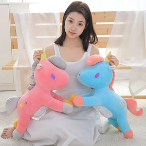 58 cm Plush Unicorn Toy & Tissue Box Stuffed Animal Pony Toy For Children Wholesale Drop Shipping Available