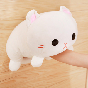 35/45 cm Soft Adorable White Cat Plush Cats Toy Stuffed Kitty Pillow Cushion For Kids Birthday Gift Shop Home Decoration