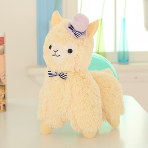 35/45 cm Alpacasso Elegant Topper Hat Alpaca Plush Toy Lovely Stuffed Animal Alpaca Toy For Kids Birthday Gift Home Decoration
