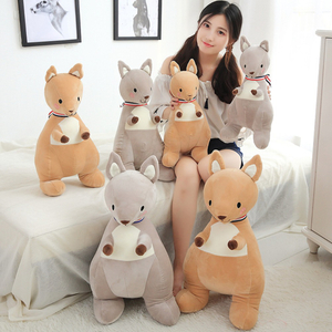 45/55 cm Soft Kangaroo Plush Toy Stuffed Animal Kangaroo Plush Soft Placating Toys Brand For Children's Bed Toy
