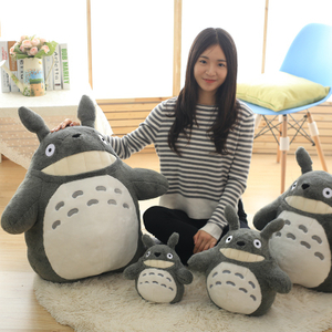 30/40/55 cm Cartoon Movie Soft TOTORO Plush Toy Soft Stuffed Pillow Cartoon Totoro Sofa Cushion Toy For Fans