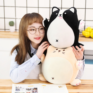 30/40cm Soft Stuffed Animal Dog & Cat Plush Toy Sleeping Pillow